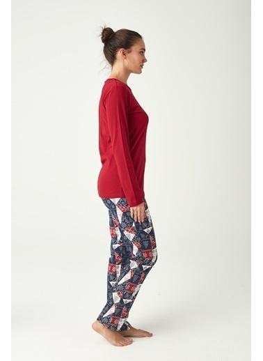 U.S. Polo Assn. Kadın Pijama Takımı Bordo